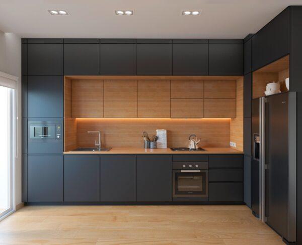 tu bep tbl0002 5 600x488 - Tủ bếp hiện đại kiểu chữ L TBL1019