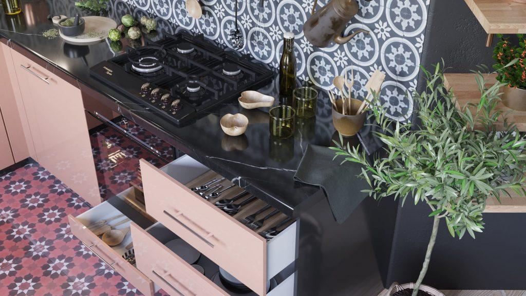 tu bep tbl0003 3 1024x577 - Nên chọn bề mặt phủ nào cho tủ bếp? Tốt gỗ phải tốt cả nước sơn