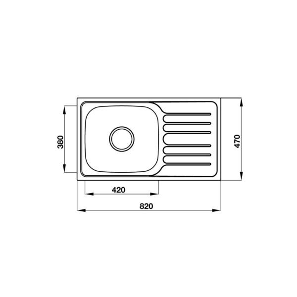 2 16 600x600 - Chậu Hafele inox Claudius HS-SSD8247