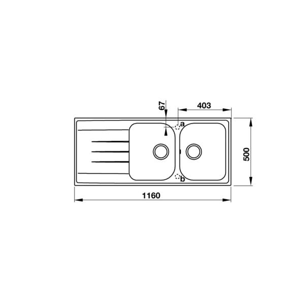 2 6 600x600 - Chậu đá Hafele Julius HS-GDD11650