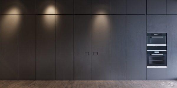 1 600x300 - Tủ bếp âm tường kiểu chữ I TBI0027