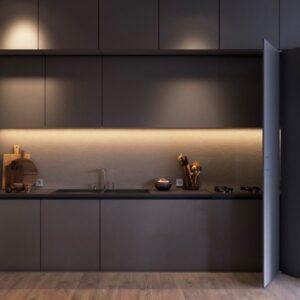 2 300x300 - Tủ bếp âm tường kiểu chữ I TBI0027