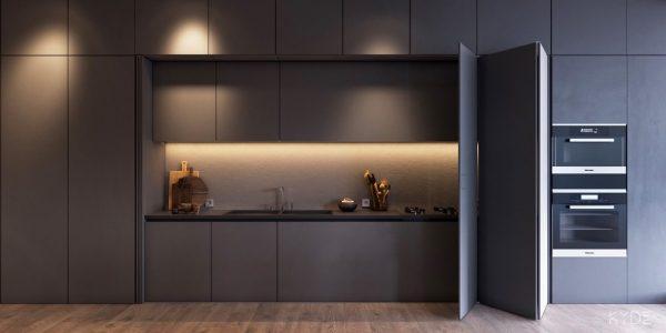 2 600x300 - Tủ bếp âm tường kiểu chữ I TBI0027
