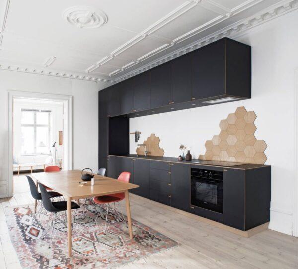 TBI0009 600x540 - Tủ bếp hiện đại kiểu chữ I TBI0009
