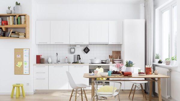 TBI0011 600x338 - Tủ bếp hiện đại kiểu chữ I TBI0011