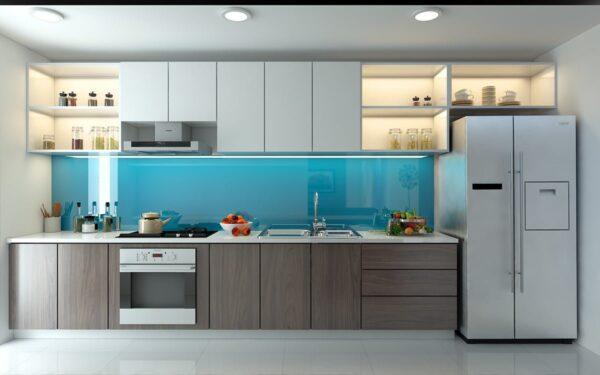 TBI0024 600x375 - Tủ bếp hiện đại kiểu chữ I TBI0024