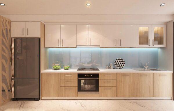 TBI0026 600x382 - Tủ bếp hiện đại kiểu chữ I TBI0026