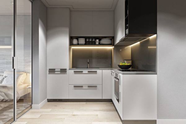 TBL1006 600x400 - Tủ bếp hiện đại kiểu chữ L TBL1006