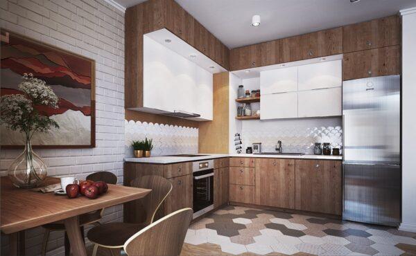 TBL1013 600x370 - Tủ bếp cổ điển kiểu chữ L TBL1013