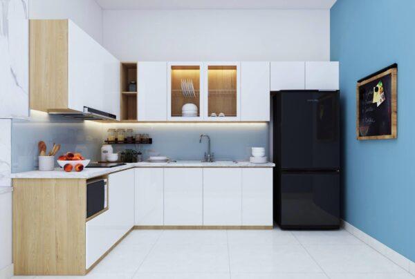 TBL1017 600x404 - Tủ bếp hiện đại kiểu chữ L TBL1017