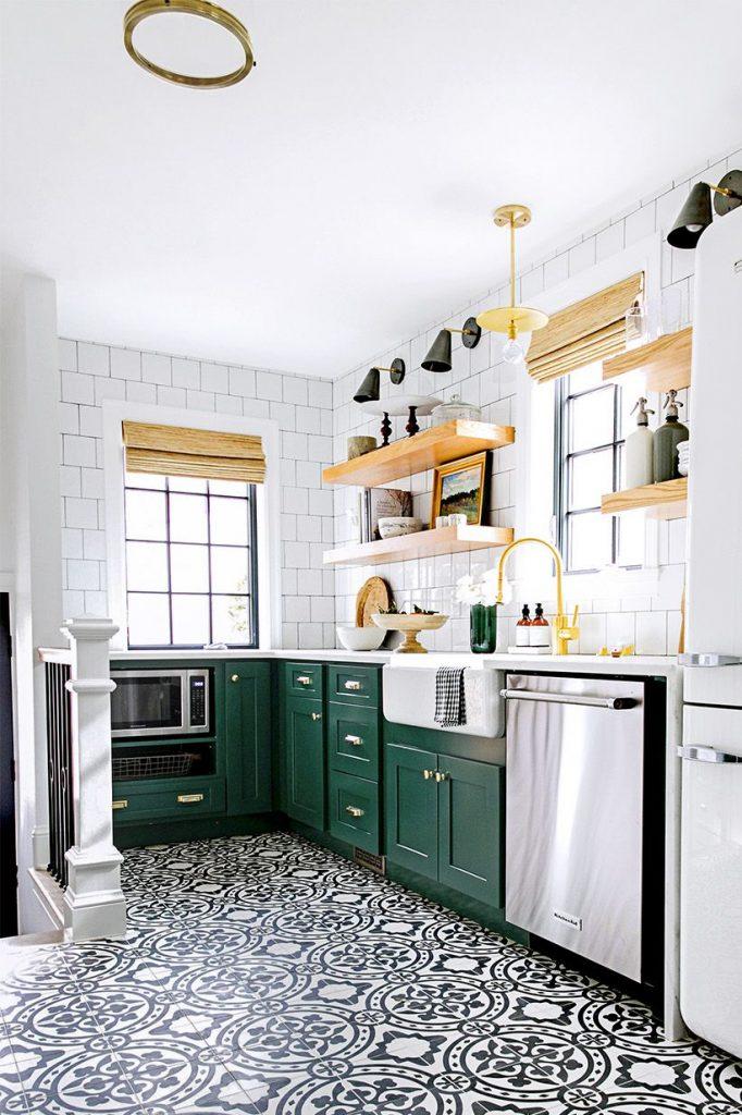 18 y tuong nha bep day mau sac lam bung sang ngoi nha ban 2 682x1024 - 18 ý tưởng nhà bếp đầy màu sắc làm bừng sáng ngôi nhà bạn