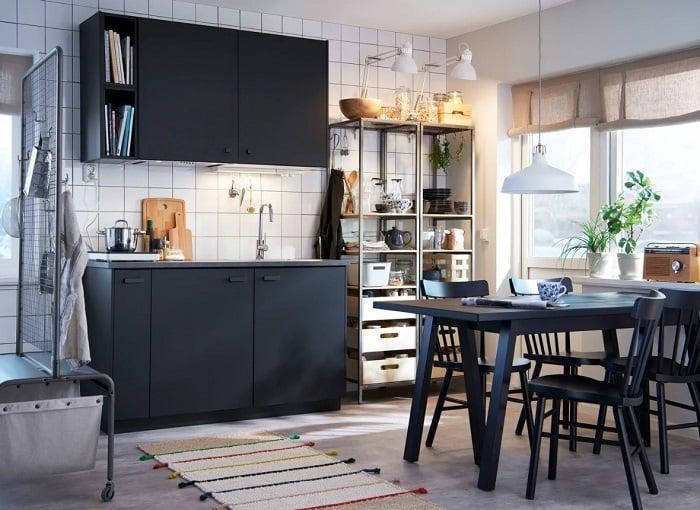 Tu Bep Go Dep Hinh Chu I 04 - Tủ bếp chữ I - lựa chọn hoàn hảo cho không gian nhà nhỏ
