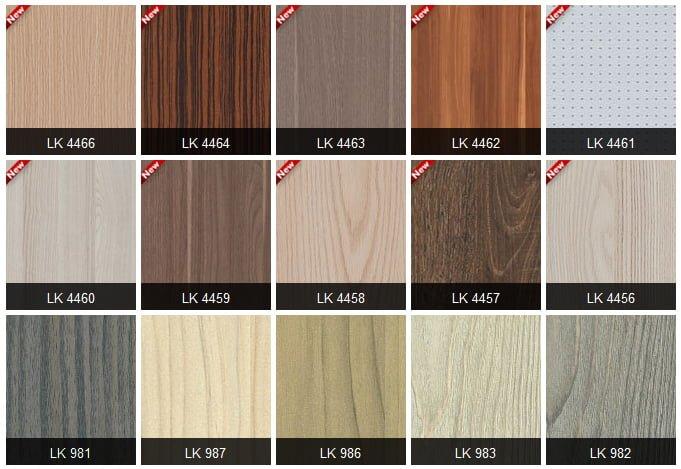 bang mau laminate kingdom 8 - Nên chọn bề mặt phủ nào cho tủ bếp? Tốt gỗ phải tốt cả nước sơn