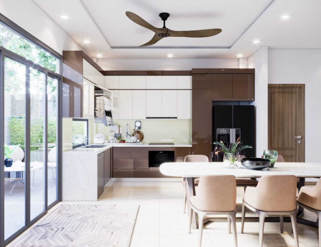 tu bep acrylic 1 1024x788 - Tại sao nên chọn tủ bếp phủ Acrylic?