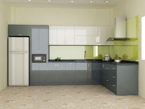 tu bep acrylic 6 - Tại sao nên chọn tủ bếp phủ Acrylic?