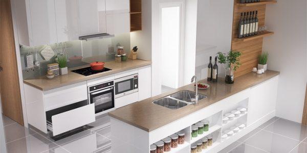 Thiết kế tủ bếp hiện đại dành riêng cho chung cư