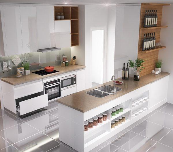 Chon tu bep cho nha chung cu 1 600x527 - Thiết kế tủ bếp hiện đại dành riêng cho chung cư