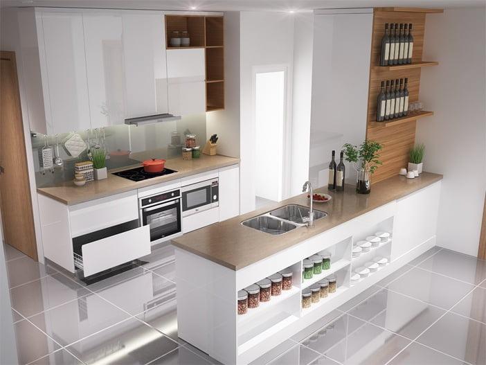 Chọn tủ bếp cho nhà chung cư