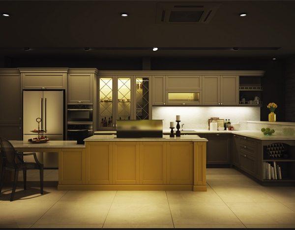 Tu bep phong cach ban co dien2 600x467 - Tuyệt chiêu bố trí nội thất bếp đẹp, tiện nghi