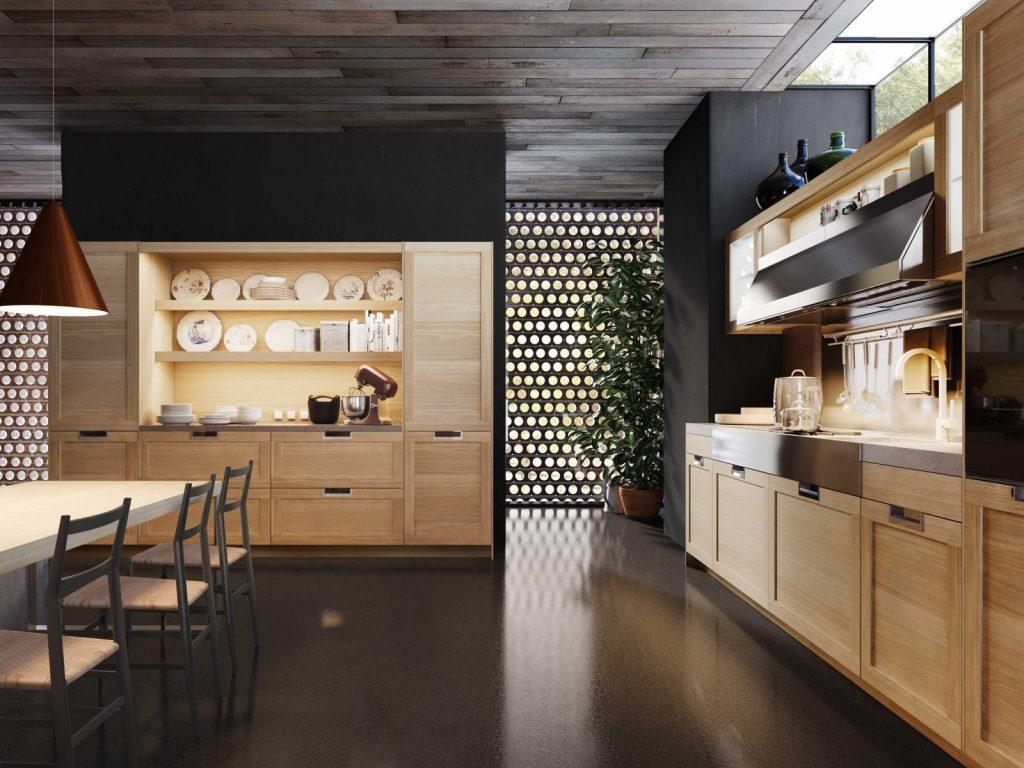 cac kieu tay nam tu bep 9 1024x768 - Gợi ý thiết kế tay nắm tạo điểm nhấn cho tủ bếp