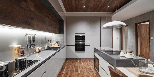 Làn gió mới từ gỗ công nghiệp cho gian bếp gia đình