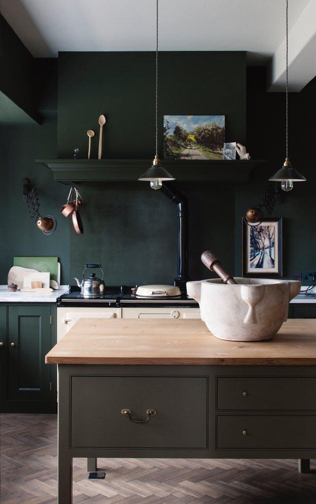 GIAI PHAP MAU SON CHO BEP 1 - Những giải pháp về màu sơn giúp không gian bếp thêm sang trọng