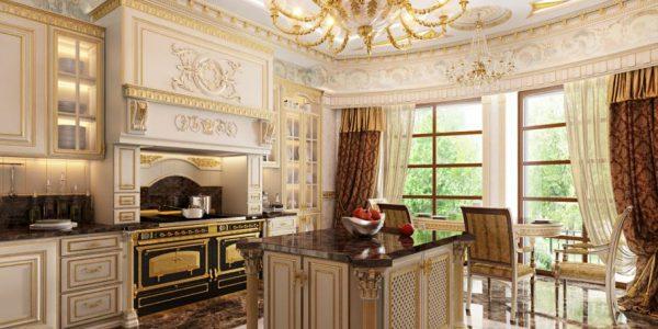 Những lưu ý khi chọn thiết kế tủ bếp tân cổ điển