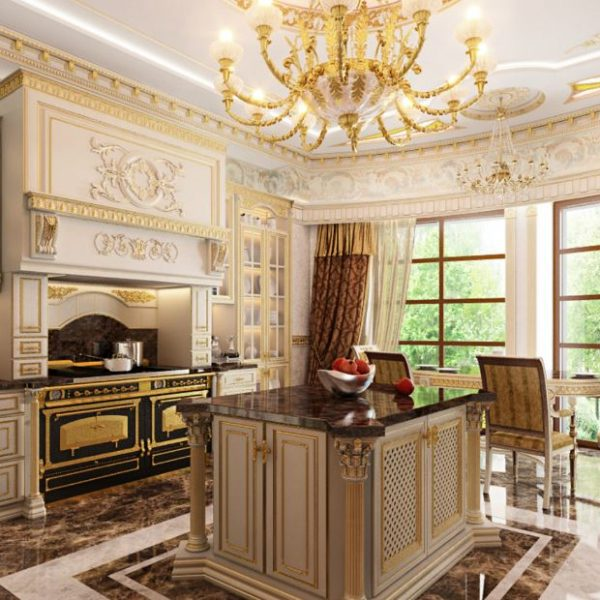 Mau tu bep phong cach tan co dien 5 600x600 - Những lưu ý khi chọn thiết kế tủ bếp tân cổ điển