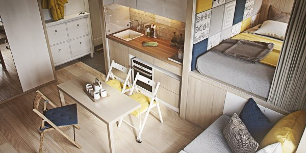 Tủ bếp chữ I – thiết kế hoàn hảo cho không gian bếp nhỏ