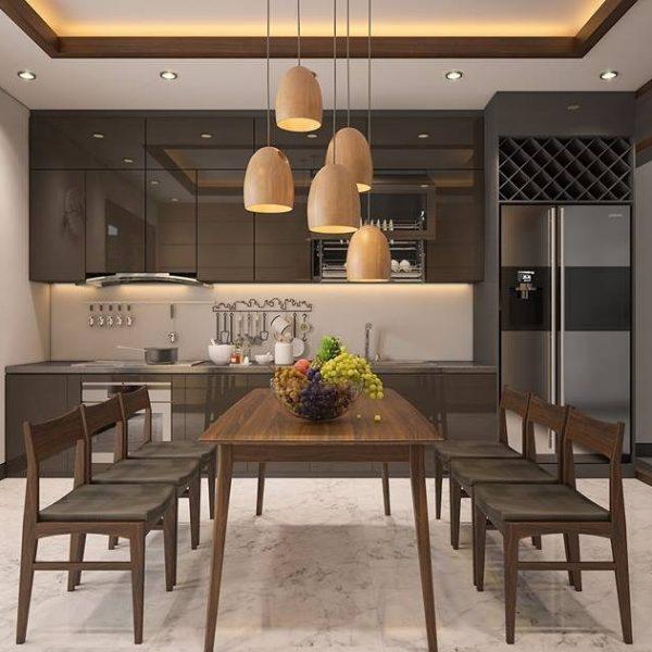 Tu bep arcylic 26 600x600 - 20+ mẫu tủ bếp Arcylic sang trọng khiến bạn không thể rời mắt
