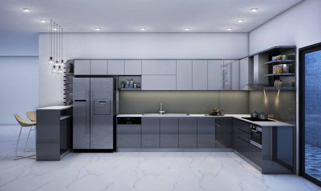 Tu bep arcylic 27 1024x608 - 20+ mẫu tủ bếp Arcylic sang trọng khiến bạn không thể rời mắt