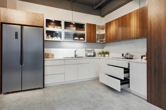 Ung dung MFC 3 - 20+ mẫu tủ bếp Arcylic sang trọng khiến bạn không thể rời mắt