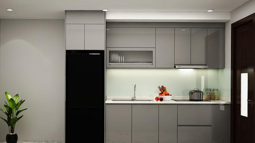 thiet ke bep chu I 1 - Tủ bếp chữ I - thiết kế hoàn hảo cho không gian bếp nhỏ