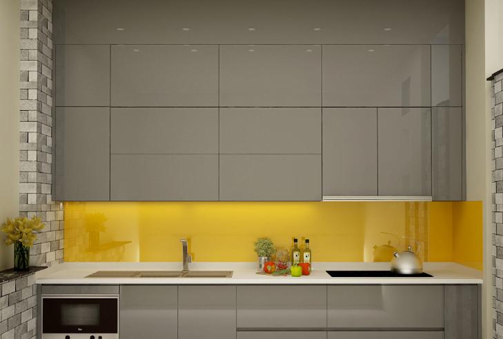 thiet ke bep chu I 3 - Tủ bếp chữ I - thiết kế hoàn hảo cho không gian bếp nhỏ