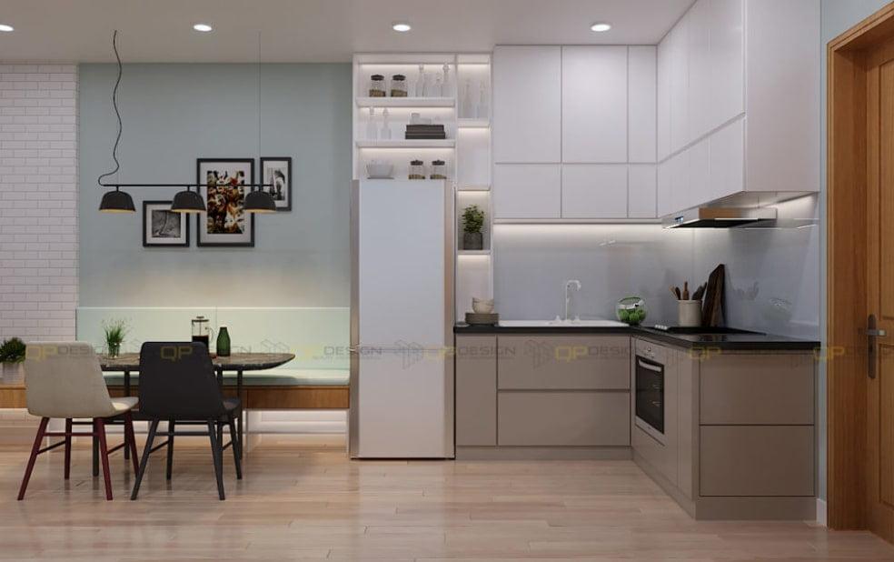 mau tu bep chung cu 10 - 20+ mẫu bếp chung cư đẹp nhất 2020