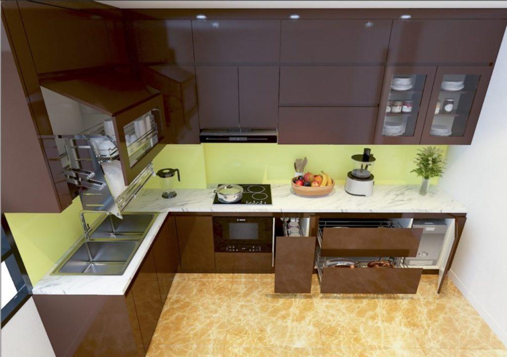 mau tu bep chung cu 16 1024x722 - 20+ mẫu bếp chung cư đẹp nhất 2020