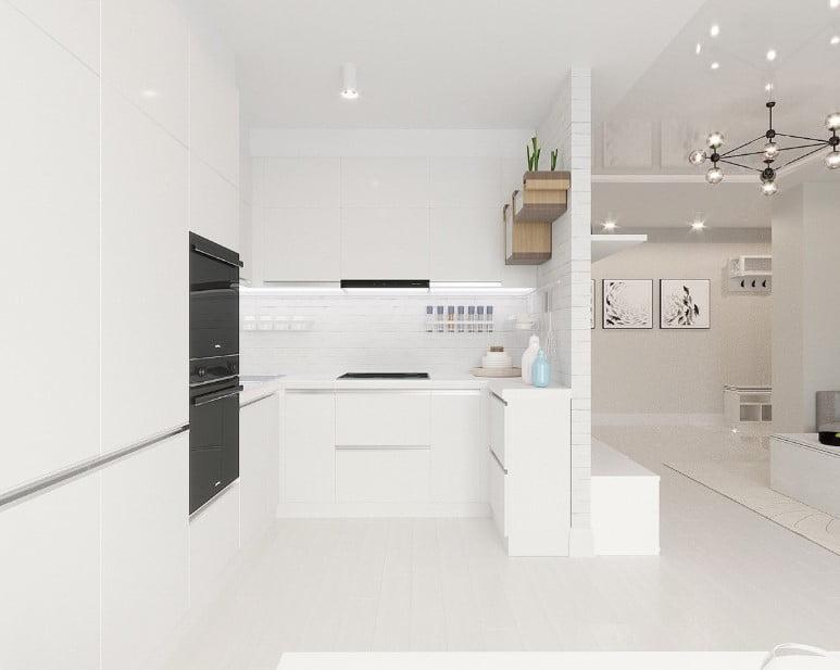 19 mau thiet ke tu bep phong cach toi gian dep nhat 2020 10 - 19 thiết kế tủ bếp tối giản cho không gian bếp nhỏ