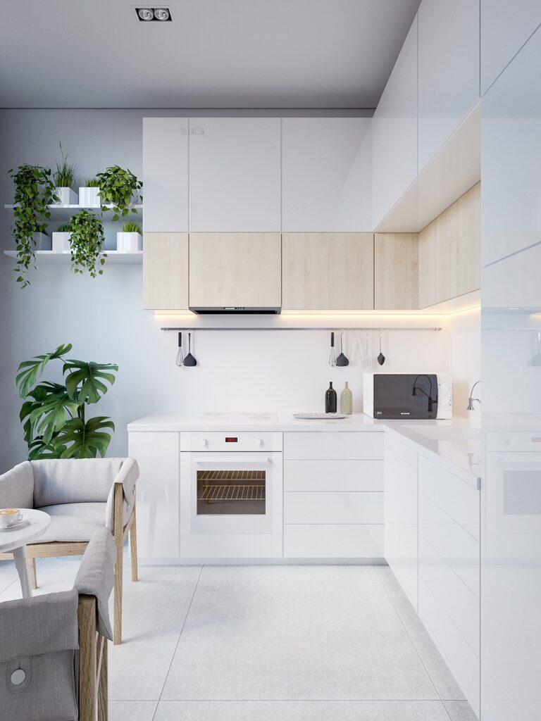 19 mau thiet ke tu bep phong cach toi gian dep nhat 2020 11 768x1024 - 19 thiết kế tủ bếp tối giản cho không gian bếp nhỏ
