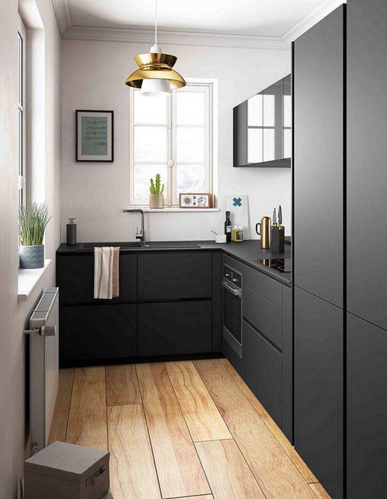19 mau thiet ke tu bep phong cach toi gian dep nhat 2020 15 796x1024 - 19 thiết kế tủ bếp tối giản cho không gian bếp nhỏ