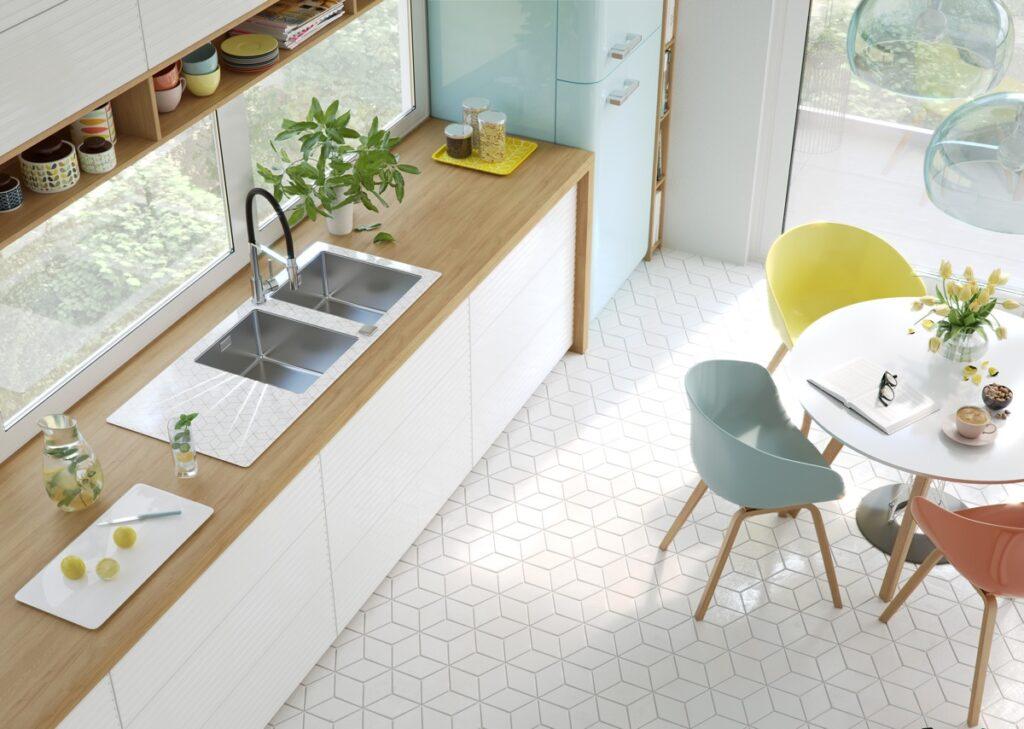 19 mau thiet ke tu bep phong cach toi gian dep nhat 2020 9 1024x729 - 19 thiết kế tủ bếp tối giản cho không gian bếp nhỏ