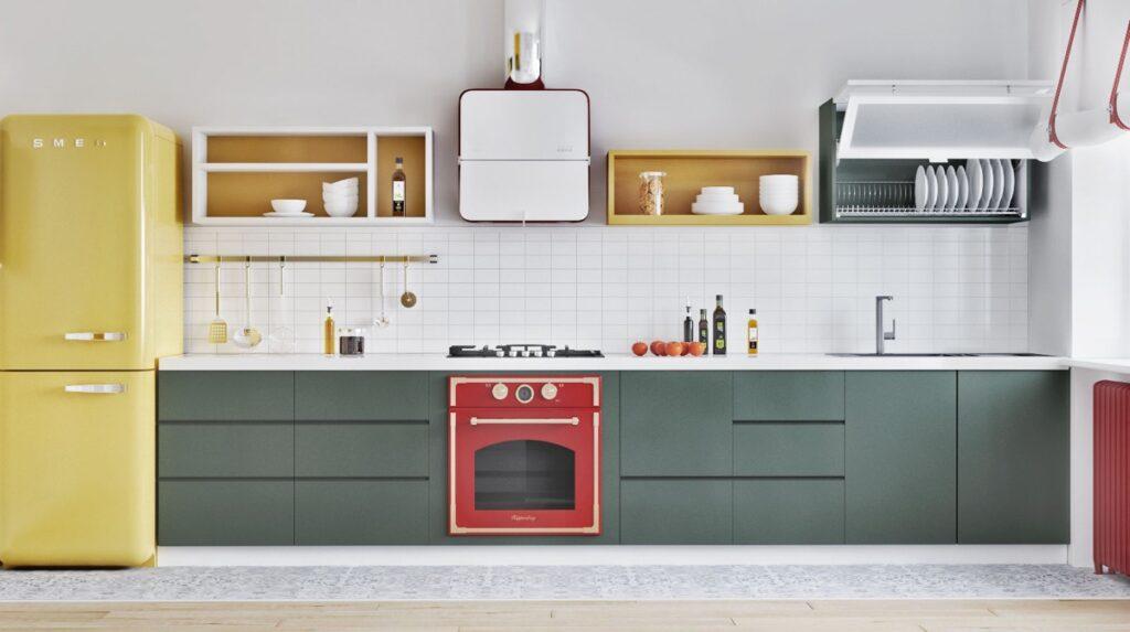 ke bep 10 1024x573 - 15 kiểu kệ tủ bếp đẹp tiện lợi nhìn là mê